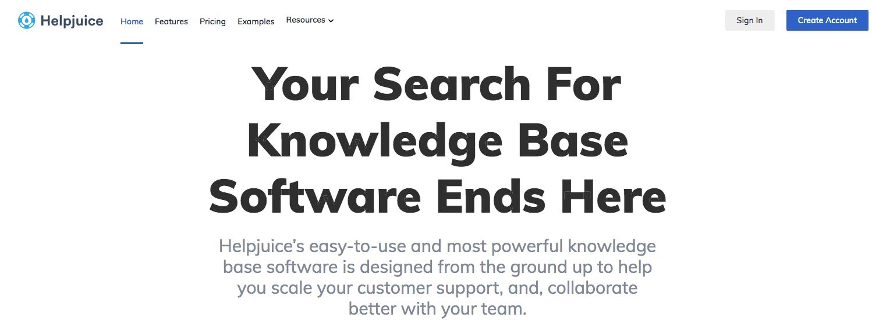 helpjuice homepage