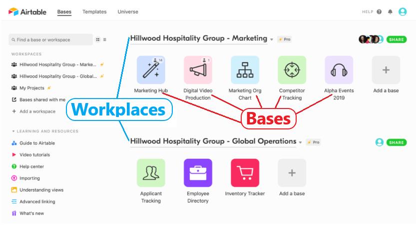 Bases Workspaces2