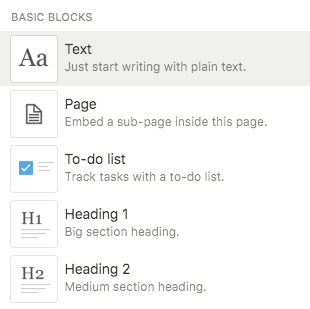 notion blocks