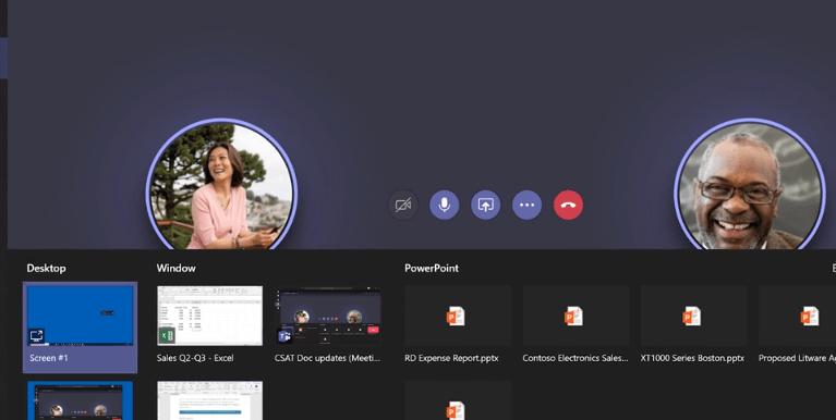 Teams user interface
